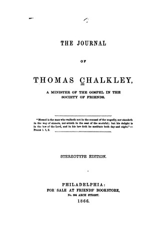 Download The journal of Thomas Chalkley