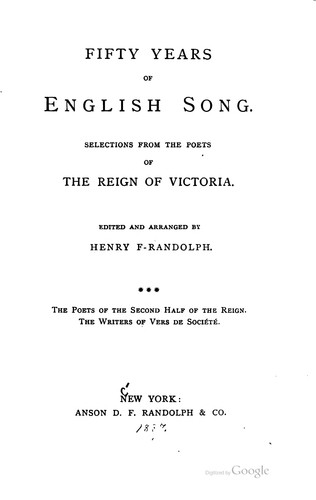 Fifty years of English song.