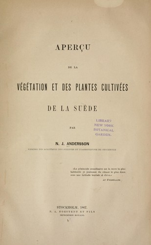 Aperçu de la végétation et des plantes cultivées de la Suède