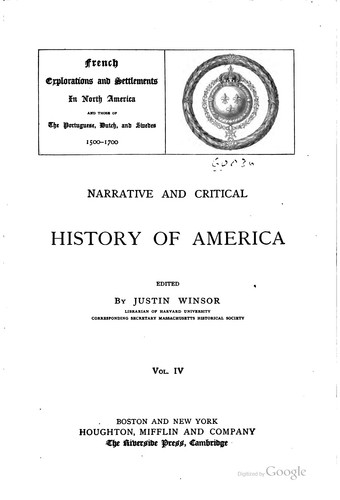 Download Narrative and critical history of America