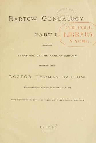 Bartow genealogy