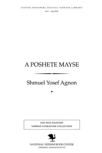A posheṭe mayśe