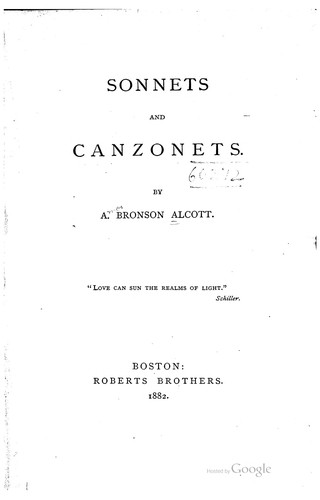 Sonnets and Canzonets