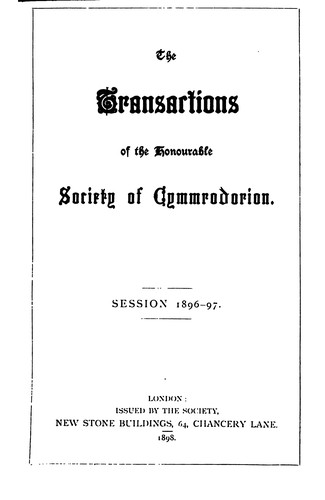 Download Transactions of the Honourable Society of Cymmrodorion. 1896-1897 Session.