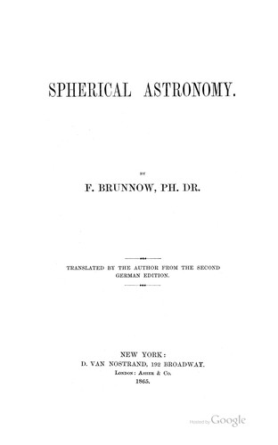 Download Spherical astronomy.