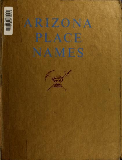 Arizona place names. by William Croft Barnes