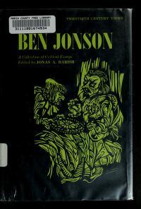 Cover of: Ben Jonson | Jonas A. Barish