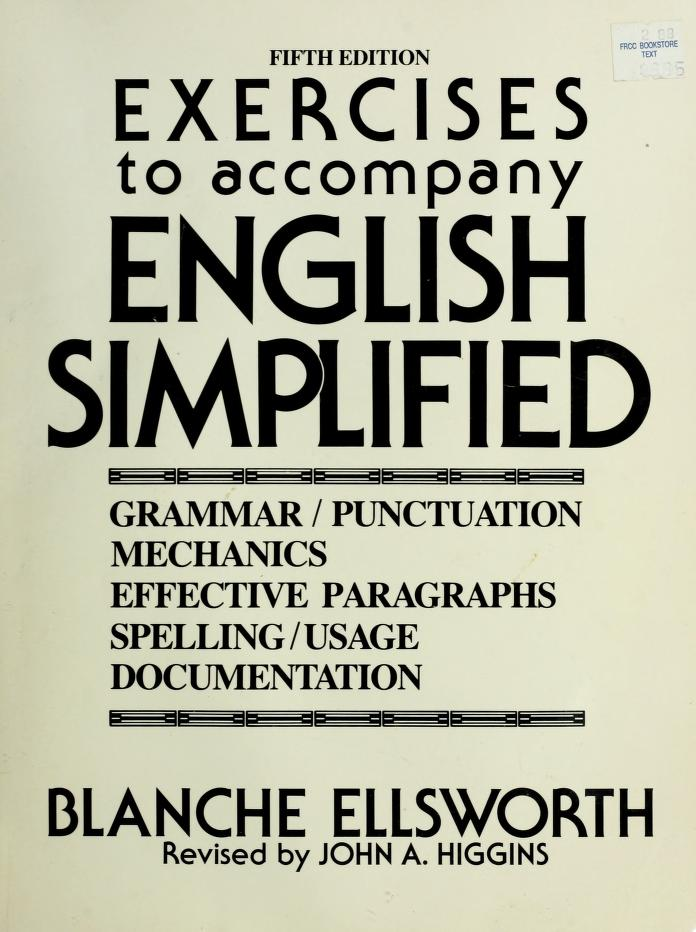 English Simplified/Exercises by Blanche Ellsworth