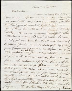 [Letter to] Dear Debora[h] by Henry Grafton Chapman