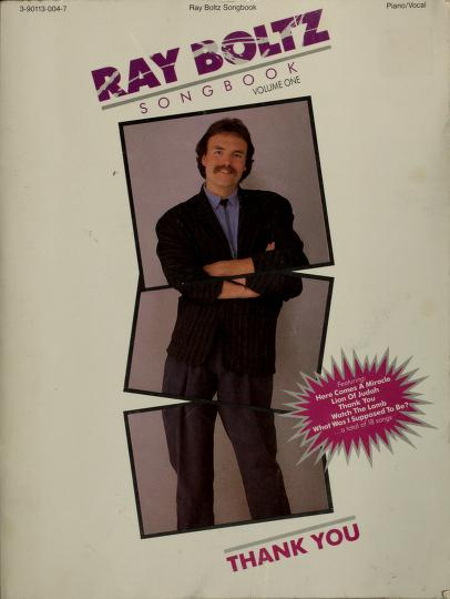 Ray Boltz songbook by Ray Boltz