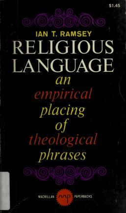 Religious language by Ian T. Ramsey