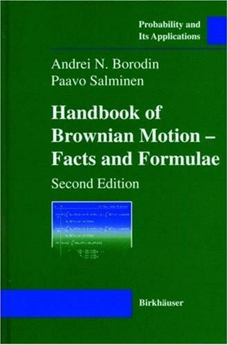 Handbook of Brownian motion by A. N. Borodin