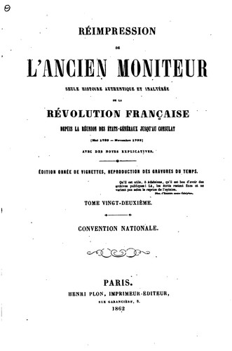 Réimpression de l'ancien Moniteur by Le Moniteur universel
