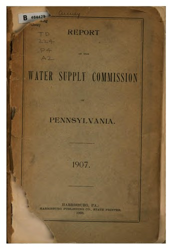 Report of the Water Supply Commission of Pennsylvania